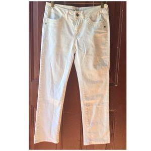Simply Vera Vera Wang Women's White Straight Jeans